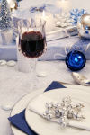 Blue Christmas place setting