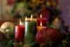 Christmas candle table center