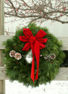 Decorating with Christmas wreaths